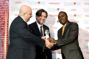 Ubuntu Radio receives Media Award from the Turquoise Harmony Institute. The Board of the Turquoise Harmony Institute awards this year's prestigious Ubuntu Media Award to the Department of International Relations and Cooperation's (DIRCO) Ubuntu Radio, South Africa's first government-run, 24-hour, online radio station, Johannesburg Hilton Hotel, Sandton, South Africa, 30 April 2014.