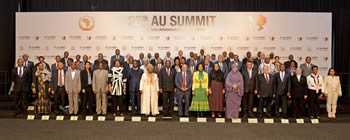 Group photograph of the African Union (AU) Executive Council, Sandton, Johannesburg, South Africa, 11 June 2015.