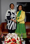 Minister Maite Nkoana-Mashabane has a bilateral meeting with the Foreign Minister of Kenya, Dr Amina C Mohamed, Sandton, Johannesburg, South Africa, 11 June 2015.