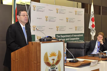 Deputy Minister Luwellyn Landers at the Fifteenth Annual Regional Seminar on the Implementation of International Humanitarian Law (IHL), Pretoria, South Africa, 18 August 2015.