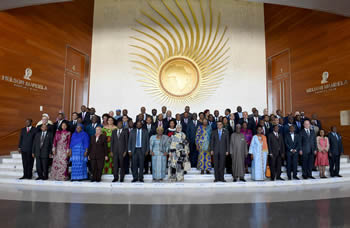 The African Union (AU) Executive Meeting family photo session post the opening of the 26th Ordinary Session of the Executive Council of the African Union (AU), Addis Ababa, Ethiopia, 26 - 27 January 2015.