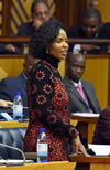 Minister Maite Nkoana-Mashabane delivers her Budget Vote Speech in Parliament, Cape Town, South Africa, 21 May 2015.
