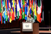 Minister Maite Nkoana-Mashabane delivers her remarks at the Opening Session of the Fourteenth Session of the Assembly of States Parties (ASP) of the International Criminal Court, The Hague, Kingdom of the Netherlands, 18 November 2015.