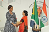 Minister Maite Nkoana-Mashabane meets with the External Affairs Minister of India, Minister Sushma Swaraj, for a Bilateral Meeting held on the sidelines of the Third India - Africa Forum Summit (IAFS-III), New Delhi, India, 27 October 2015.