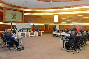 Wide view of the Third Session of the Ministerial Meeting of the Tripartite Mechanism on Dialogue and Cooperation between the Republic of South Africa, the Republic of Angola and the Democratic Republic of Congo, Pretoria, South Africa, 12 September 2015.