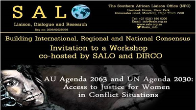 DIRCO-SALO Workshop on Building International, Regional and National Consensus, 26 November 2015