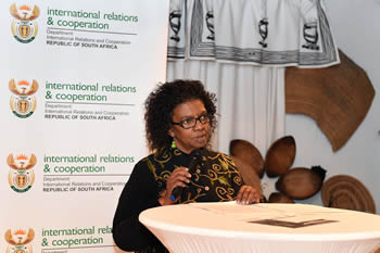 Deputy Minister Nomaindiya Mfeketo addresses the University of Cape Town (UCT) Black Alumini during a Public Participation Programme event, Langa, Cape Town, South Africa, 12 August 2015.