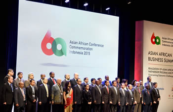 Wide view of the Asian African Business Summit, Jakarta Indonesia, 21 April 2015.