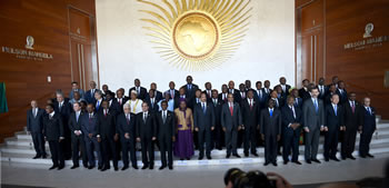 Family photo of the Heads of State and Government attend the 24th Ordinary Session of the African Union (AU) Assembly, Addis Ababa, Ethiopia, 30 January 2015.