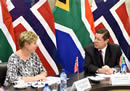 Deputy Minister Luwellyn Landers meets with the Deputy Minister of Norway, Ms Tone Skogen, Pretoria, South Africa, 31 October 2016.