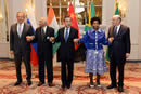 The Russian Federation, Mr Sergey Lavrov, the Foreign Minister of India, Mr MJ Akbar, the Foreign Minsiter of China, Mr Wang Yi, the Minister International Relations and Cooperation of South Africa, Ms Maite Nkoana-Mashabane, and the Foreign Minister of Brazil, Mr Jose Serra, at the Tenth BRICS Ministers of Foreign Affairs Meeting, New York, USA, September 20, 2016.
