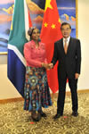 Bilateral Meeting between Minister Maite Nkoana-Mashabane and the Foreign Minister of the People's Republic of China, Mr Wang Yi, Beijing, People's Republic of China, 29 July 2016.