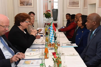 Courtesy Meeting between Minister Maite Nkoana-Mashabane and the Speaker of Parliament, Ms B Stamm, Bavarian Landtag, Munich, Bavaria, Germany, 15 November 2016.