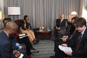 Minister Maite Nkoana-Mashabane attends an International Atomic Energy Agency (IAEA) Bilateral Meeting, Washington D.C, USA, 31 March - 1 April 2016.