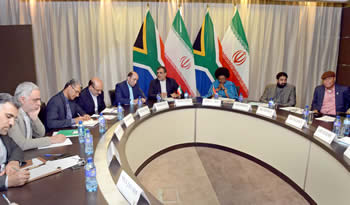 Deputy Minister Nomaindiya Mfeketo hosts the South Africa - Iran Deputy Ministerial Working Group (DMWG) with the Deputy Foreign Minister of Iran, Mr Hossein Jaber Ansari, Pretoria, South Africa, 29 September 2016.