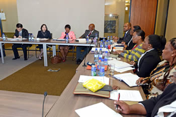The launch of the South Africa - China Structured Bilateral Dialogue on Human Rights, co-chaired by Madame Liu Hua (Special Representative on Human Rights: China) and Ambassador Nozipho Mxakato-Diseko from the Department of International Relations and Cooperation, Pretoria, South Africa, 14 April 2016.