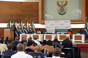 Deputy President Cyril Ramaphosa addresses the Heads of Mission (HoM) Conference, Department of International Relations and Cooperation, Pretoria, South Africa, 20 October 2016.