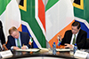 Deputy Minister Luwellyn Landers and the Minister of State for the Diaspora and International Development of Ireland, Mr Ciarán Cannon, during a Bilateral Meeting, Pretoria, South Africa, 31 October 2017.