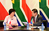 Deputy Minister Luwellyn Landers hosts the Under Secretary of State for Ministry of Foreign Affairs of the Republic of Poland, Joanna Wronecka, OR Tambo Building, Pretoria, South Africa, 7 November 2017.