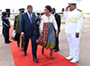 President of the Republic of Angola, João Manuel Gonçalves Lourenço, arrives at the Waterkloof Airforce Base, Pretoria, South Africa, 23 November 2017.