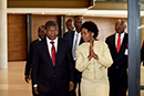 "Minister Maite Nkoana-Mashabane and the President of the Republic of Angola, João Manuel Gonçalves Lourenço, at the public lecture, under the theme: ""Angola – Regional Integration and Development"", OR Tambo Building, Pretoria, South Africa, 24 November 2017."