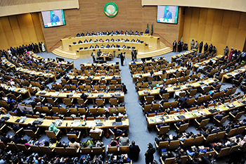 Opening Ceremony of the 29th Session of the Assembly of Heads of State and Government of the African Union (AU). Minister Maite Nkoana-Mashabane leads the South Africa delegation in her capacity as Special Representative of President Jacob Zuma, Addis Ababa, Ethiopia, 3 July 2017.
