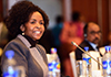 Minister Maite Nkoana-Mashabane speaks at a Working Luncheon during the 29th Session of the Assembly of Heads of State and Government of the African Union (AU), Addis Ababa, Ethiopia, 3 July 2017.
