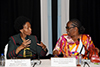 Minister Maite Nkoana-Mashabane with Minister Pelonomi Venson-Moito of Botswana, co-chair the Ministerial Meeting of the Fourth Session of the South Africa - Botswana Bi-National Commission, Gaborone, Botswana, 16 November 2017.