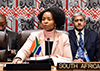 Minister Maite Nkoana-Mashabane chairs the BRICS Ministerial Meeting, on the sidelines of the UN General Assembly, UN Headquarters, New York, USA, 21 September 2017.