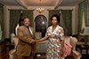 Minister Maite Nkoana-Mashabane meets with the Foreign Minister of Comoros, Mohamed El-Amine Souef, at her residence, Pretoria, South Africa, 6 November 2017.