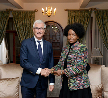 Minister Maite Nkoana-Mashabane meets with the Minister-President of Flanders, Mr Geert Bourgeois, Pretoria, South Africa, 21 August 2017.