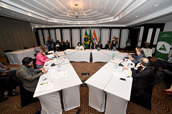 Minister Maite Nkoana-Mashabane chairs the Meeting of the Eight India, Brazil, South Africa (IBSA) Trilateral Ministerial Commission (ITMC). The meeting is also attended by Minister Aloysio Nunes Ferreira (Brazil) and Dr V K Singh (India), Southern Sun Elangeni, Durban, South Africa, 17 October 2017.