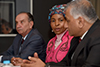 Minister Maite Nkoana-Mashabane, Minister Aloysio Nunes Ferreira (Brazil), and Dr V K Singh (India), sign the minutes of the Eight IBSA Trilateral Ministerial Commission (ITMC) and adress the media, Southern Sun, Elangeni, Durban, South Africa, 17 October 2017.