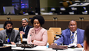 Minister Maite Nkoana-Mashabane attends the Ministerial Meeting of the India, Brazil and South Africa (IBSA) Forum, on the sidelines of the United Nations General Assembly, UN Headquarters, New York, USA, 21 September 2017.
