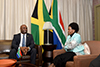 Minister Maite Nkoana-Mashabane meets with the Minister of Science Energy and Technology of Jamaica, Dr Andrew Wheatley, Pretoria, South Africa, 5 December 2017.