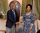 Minister Maite Nkoana-Mashabane receives a Courtesy Call from the Minister of Foreign Affairs and International Relations of the Kingdom of Lesotho, Lesego Makgothi, Pretoria, South Africa, 23 October 2017.