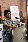Minister Maite Nkoana-Mashabane opens the new High Commission of South African in Lilongwe, Malawi. She is joined by the Minister of Lands, Housing and Urban Development of Malawi, Mr Austin Atupele Muluzi, in Lilongwe, Malawi, 9 May 2017.