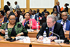 Minister Maite Nkoana-Mashabane, and the Minister for Foreign Affairs and Co-operation of Mozambique, Mr Oldemiro Julio Marques Baloi, co-chair the Ministerial Session of the South Africa - Mozambique Bi-National Commission, Maputo, Mozambique, 24 August 2017.