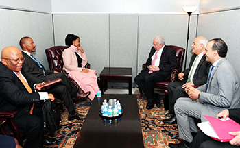 Bilateral Meeting between Minister Maite Nkoana-Mashabane and the Minister of Foreign Affairs of the State of Palestine, Minister Riyad al-Maliki, on the sidelines of the UN General Assembly, UN Headquarters, New York, USA, 21 September 2017.