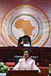 Minister Maite Nkoana-Mashabane during the opening of the 5th Ordinary Session of the Fourth Pan African Parliament, Gallagher Convention Centre, Midrand, South Africa, 9 October 2017.