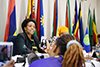 Minister Nkoana-Mashabane and the Executive Secretary of SADC, Dr Stergomena Lawrence Tax, attend the SADC Troika plus Chair Meeting, SADC Headquarters, Gaborone, Botswana, 16 November 2017.