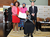 Minister Maite Nkoana-Mashabane at the Graduation and Closing Ceremony of the third Gertrude Shope Annual Dialogue Forum on Conflict Resolution and Peace-making, Conference Centre, O R Tambo Building, Pretoria, South Africa, 4 August 2017.