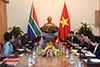 Minister Maite Nkoana-Mashabane, meets with the Minister of Foreign Affairs of the Socialist Republic of Vietnam, Mr Phạm Bình Minh, Hanoi, Socialist Republic of Vietnam, 7 September 2017.