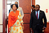 Minister Maite Nkoana-Mashabane with Minister Harry Kalaba of the Ministry of Foreign Affairs of the Republic of Zambia during the Second Session of the South Africa - Zambia Joint Commission for Cooperation (JCC). Taj-Pamodzi Hotel, Lusaka, Zambia, 11 October 2017.