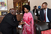 Minister Maite Nkoana-Mashabane payes a Courtesy Call on the former President of Zambia, Mr Kenneth Kaunda, during the African Regional Heads of Mission Conference, Lusaka, Zambia, 15-17 May 2017.