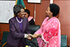 Minister Maite Nkoana-Mashabane payes a Courtesy Call on the Vice President of Zambia, Ms Ininge Wina, during the African Regional Heads of Mission Conference, Lusaka, Zambia, 15-17 May 2017.
