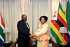Minister Maite Nkoana-Mashabane meets with her counterpart from Zimbabwe, Minister Simbarashe Mumbengegwi, for the South Africa - Zimbabwe Bi-National Commission (BNC), OR Tambo Building, Pretoria, South Africa, 2 October 2017.