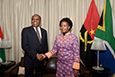 Minister Maite Nkoana-Mashabane and the Minister of External Relations from the Republic of Angola, Manuel Domingos Augusto, Pretoria, South Africa, 9 November 2017.