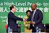 Minister of Arts and Culture, Mr Nathi Mthethwa, signs an agreement with the Chinese Vice Minister of Culture, Mr Ding Wei, Pretoria, South Africa, 24 April 2017.