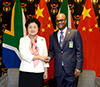 Minister of Arts and Culture, Mr Nathi Mthethwa, with the Vice Premier of the People's Republic of China, Ms Liu Yandong, Pretoria, South Africa, 24 April 2017.